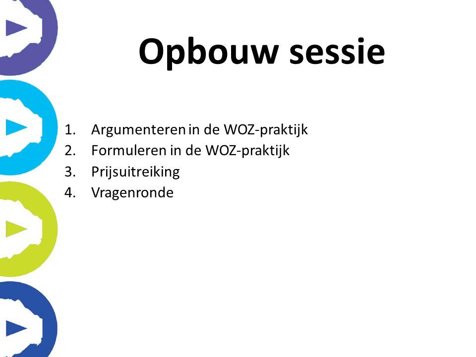 Opbouw sessie Argumenteren in de WOZ-praktijk