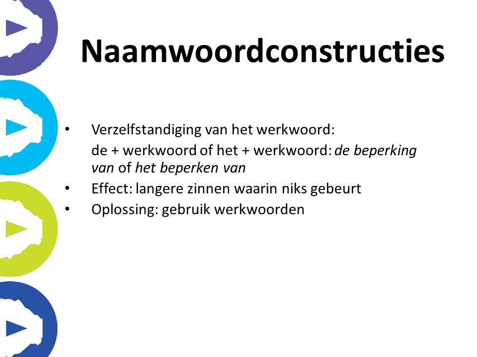 Naamwoordconstructies
