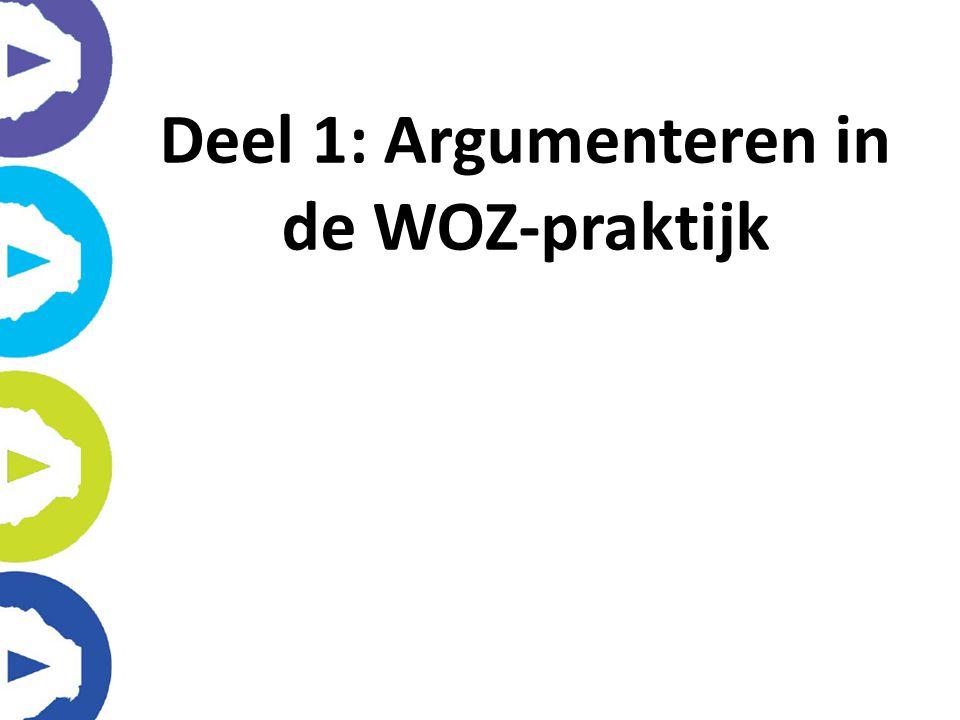 Deel 1: Argumenteren in de WOZ-praktijk
