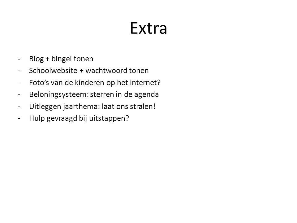 Extra Blog + bingel tonen Schoolwebsite + wachtwoord tonen