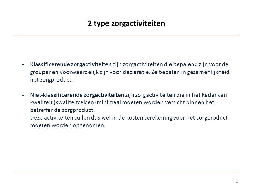 2 type zorgactiviteiten