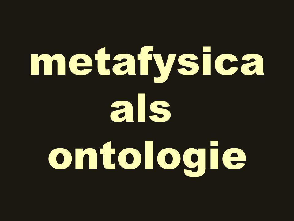 metafysica als ontologie