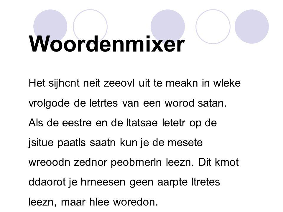 Woordenmixer