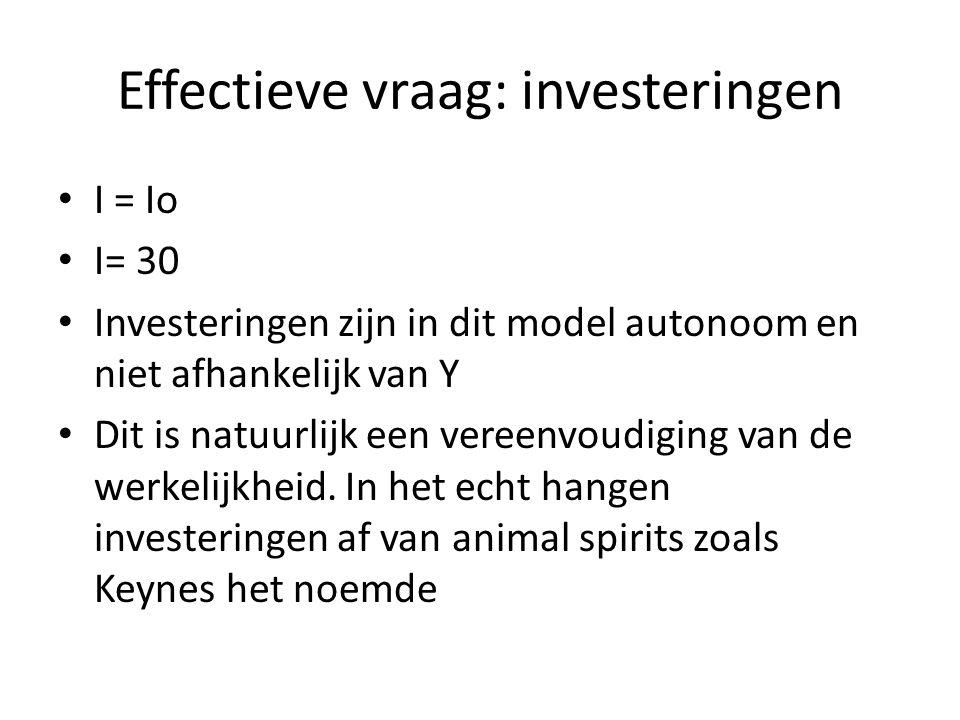 Effectieve vraag: investeringen