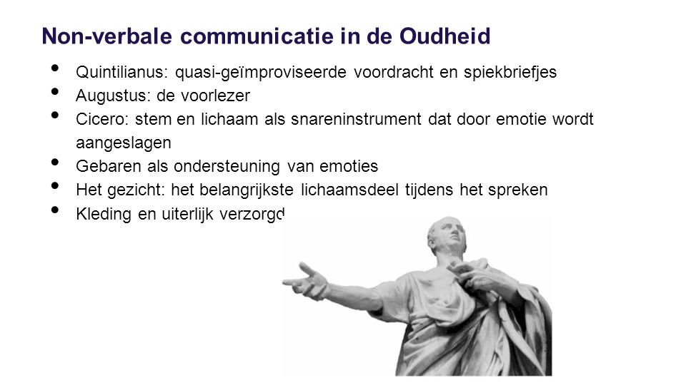Non-verbale communicatie in de Oudheid