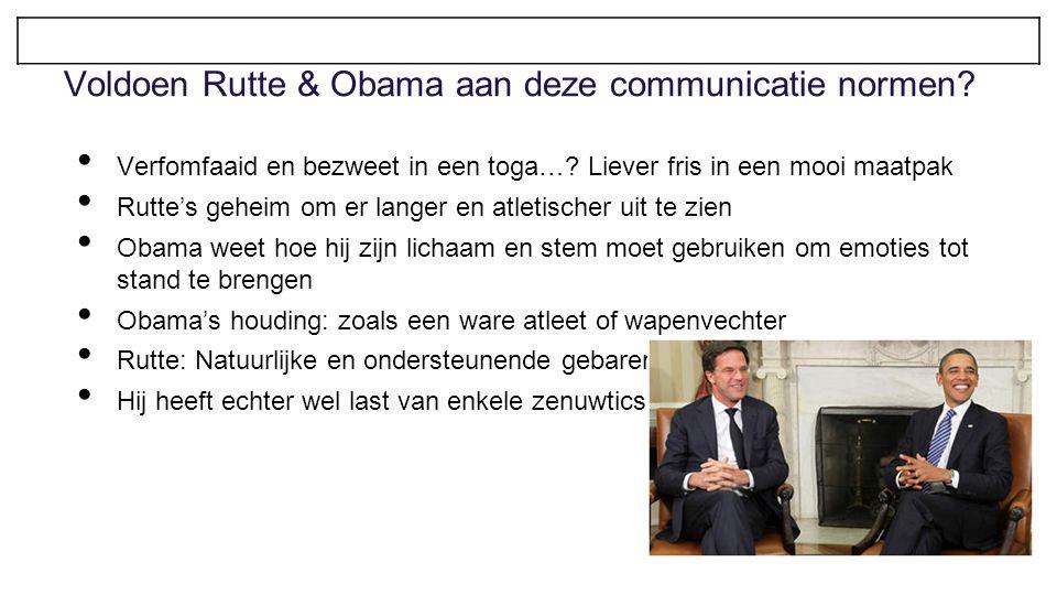 Voldoen Rutte & Obama aan deze communicatie normen