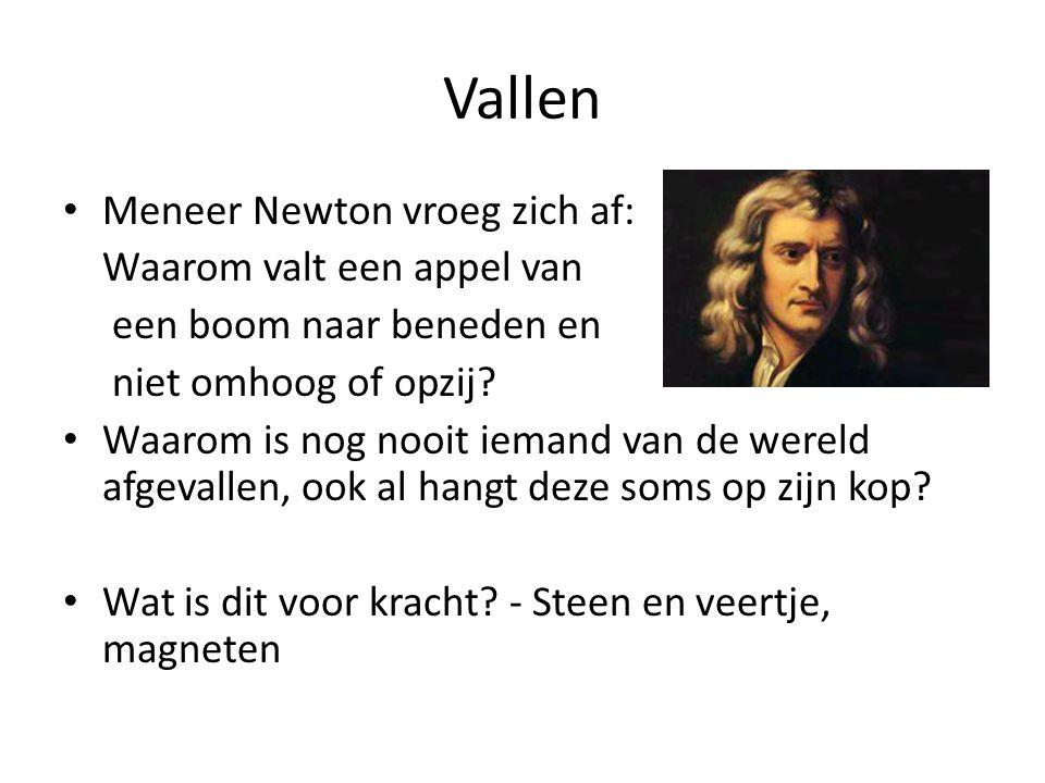 Vallen Meneer Newton vroeg zich af: Waarom valt een appel van