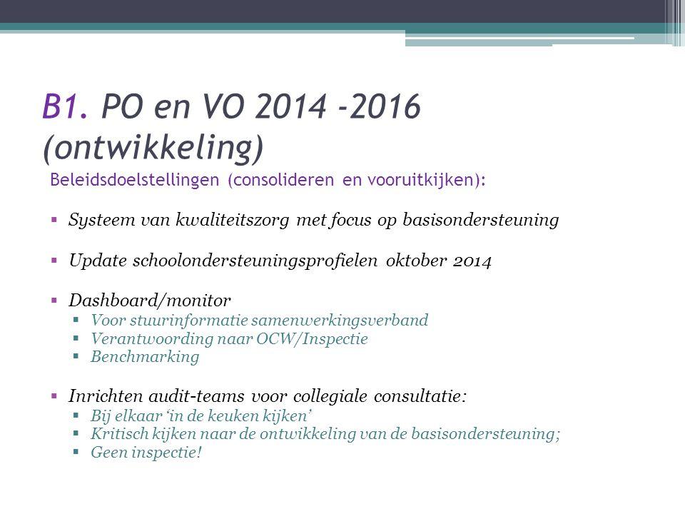 B1. PO en VO 2014 -2016 (ontwikkeling)