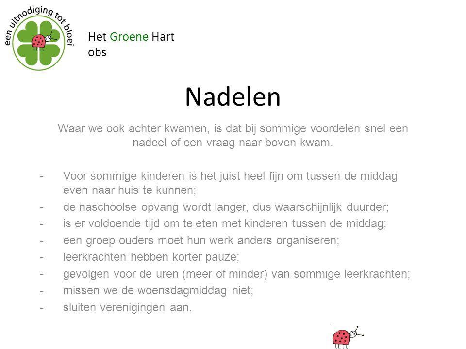 Nadelen Het Groene Hart obs