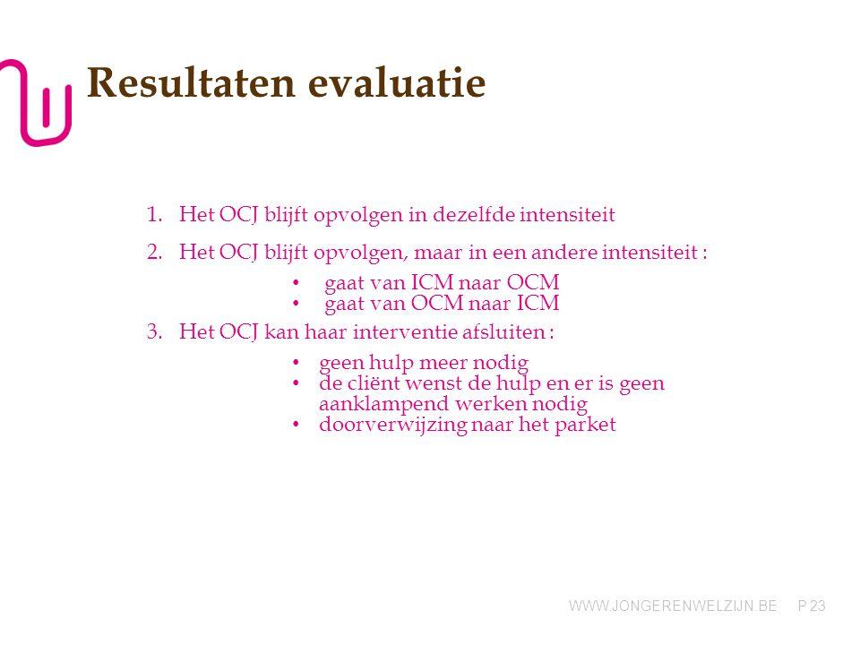Resultaten evaluatie Het OCJ blijft opvolgen in dezelfde intensiteit