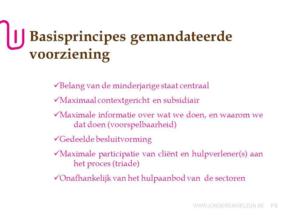 Basisprincipes gemandateerde voorziening