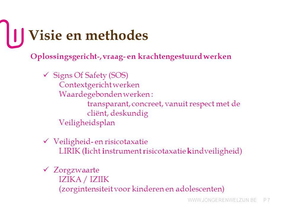 Visie en methodes Oplossingsgericht-, vraag- en krachtengestuurd werken. Signs Of Safety (SOS) Contextgericht werken.