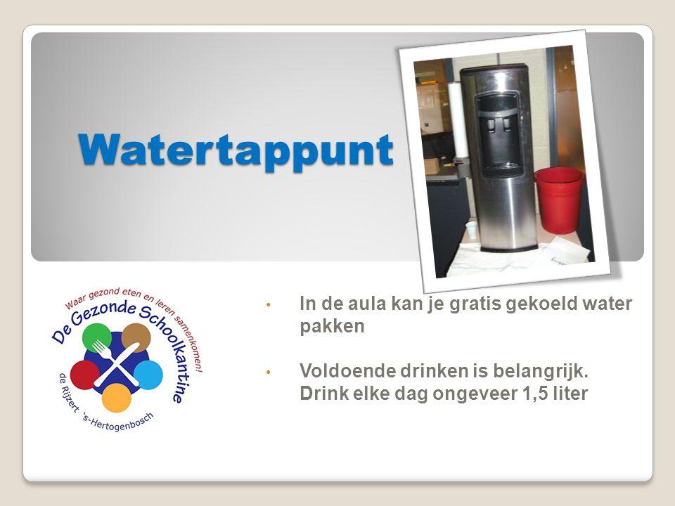 Watertappunt In de aula kan je gratis gekoeld water pakken