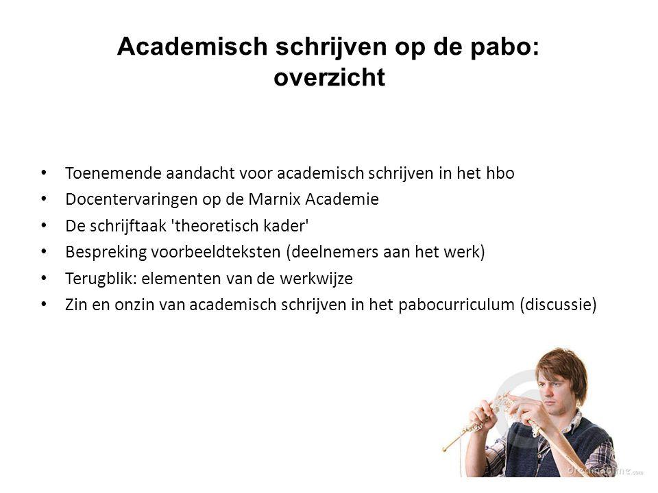 Academisch schrijven op de pabo: overzicht