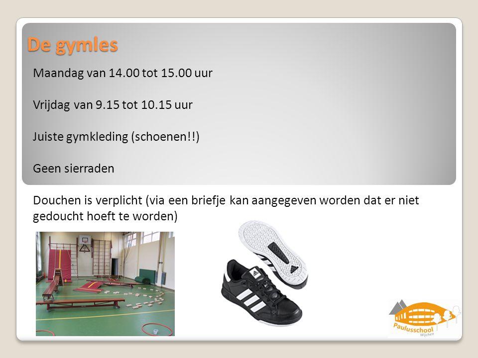 De gymles Maandag van 14.00 tot 15.00 uur