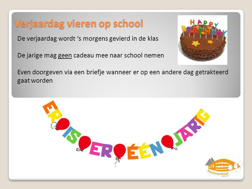Verjaardag vieren op school