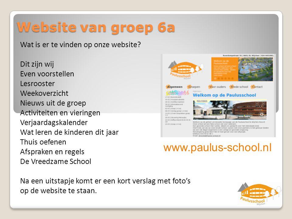 Website van groep 6a www.paulus-school.nl