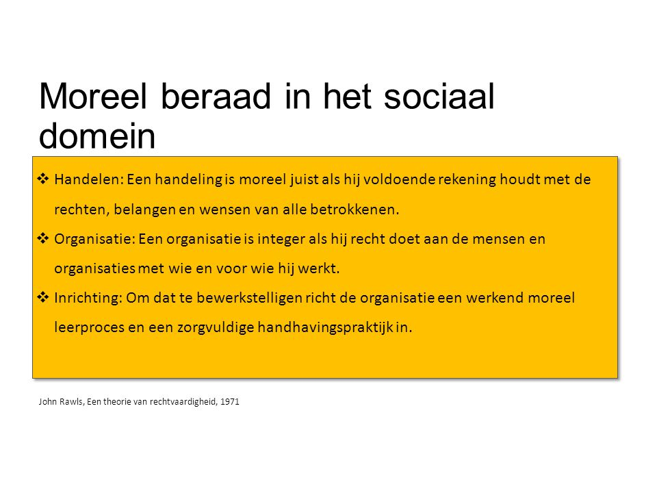 Moreel beraad in het sociaal domein