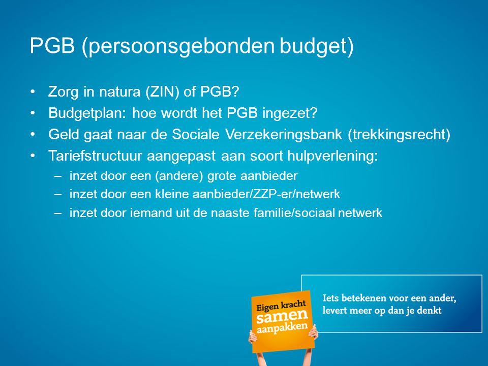 PGB (persoonsgebonden budget)