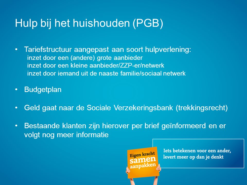 Hulp bij het huishouden (PGB)