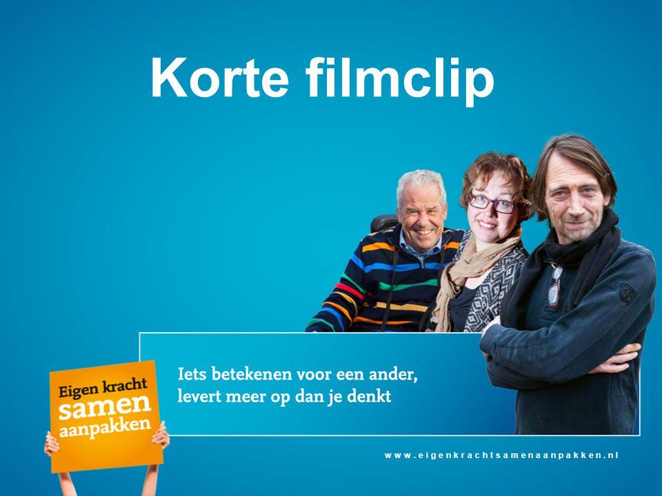 Korte filmclip www.eigenkrachtsamenaanpakken.nl