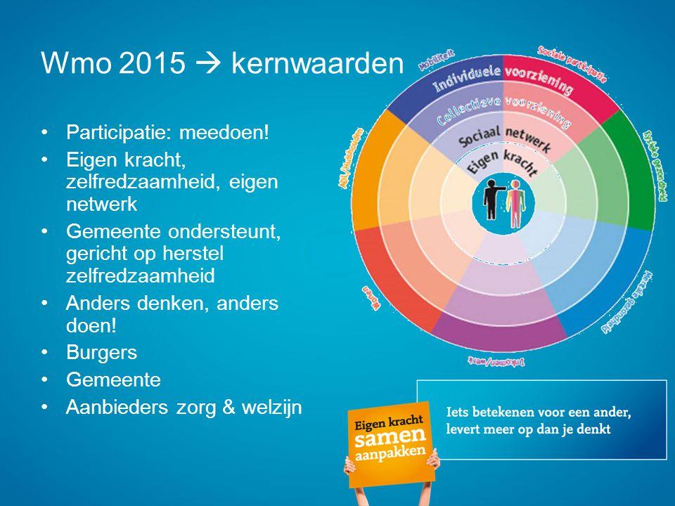 Wmo 2015  kernwaarden Participatie: meedoen!