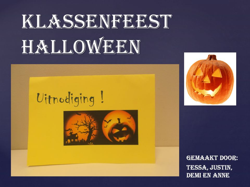 Klassenfeest Halloween