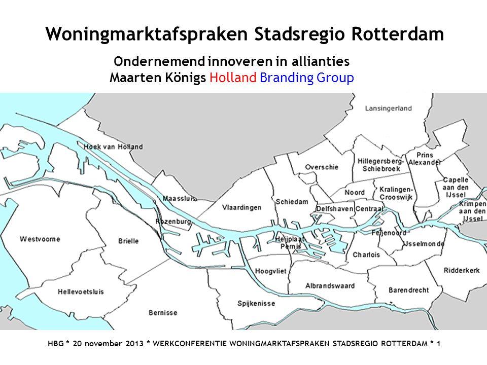 Woningmarktafspraken Stadsregio Rotterdam