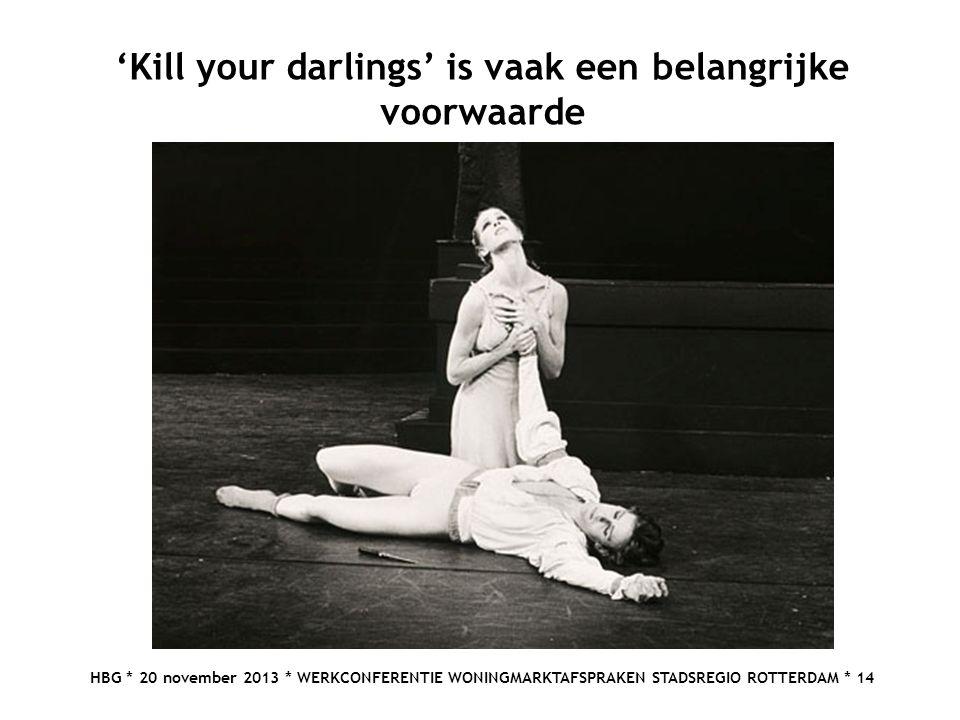 'Kill your darlings' is vaak een belangrijke voorwaarde