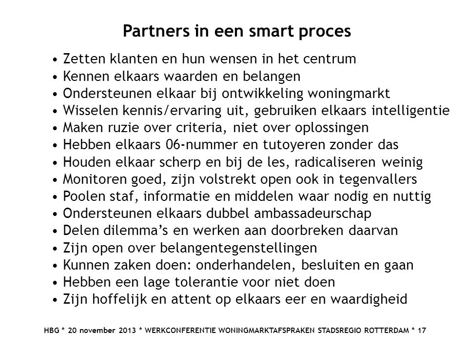 Partners in een smart proces