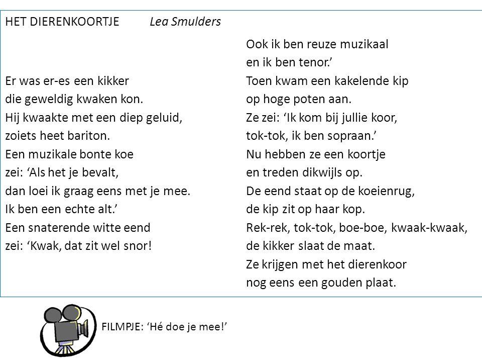 HET DIERENKOORTJE Lea Smulders