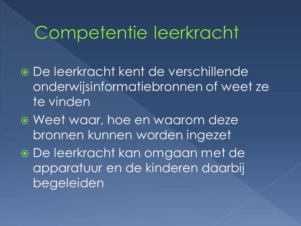 Competentie leerkracht