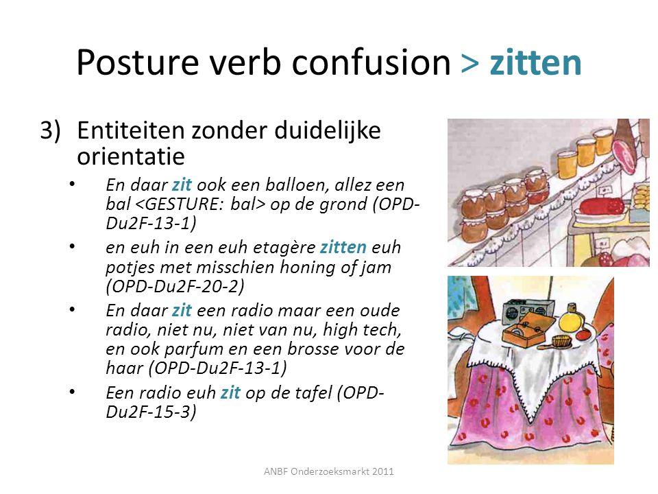 Posture verb confusion > zitten