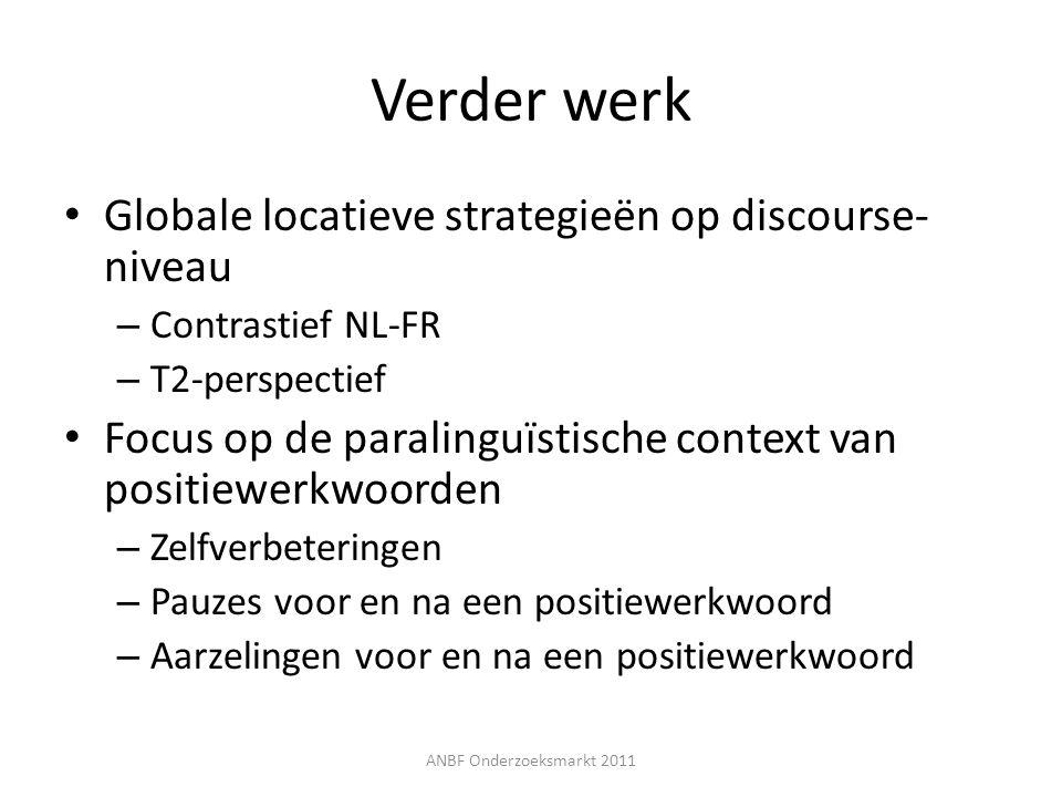 Verder werk Globale locatieve strategieën op discourse-niveau