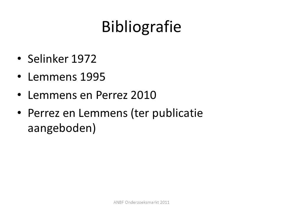 Bibliografie Selinker 1972 Lemmens 1995 Lemmens en Perrez 2010