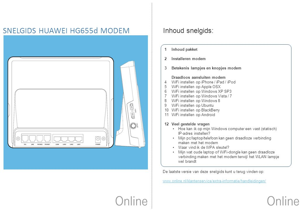 SNELGIDS HUAWEI HG655d MODEM