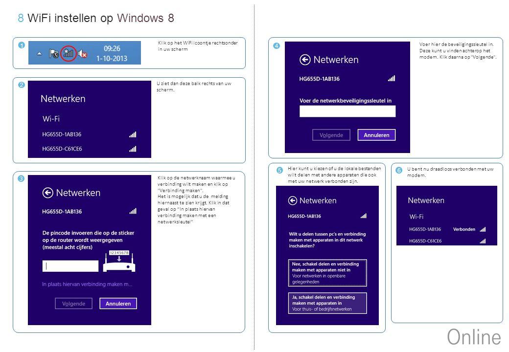 8 WiFi instellen op Windows 8
