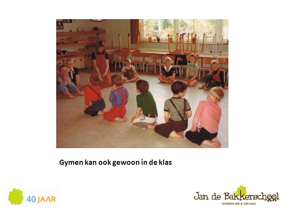 Gymen kan ook gewoon in de klas