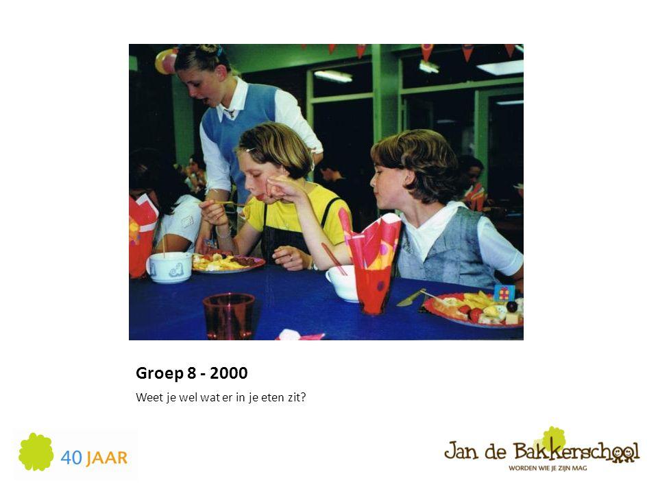 Groep 8 - 2000 Weet je wel wat er in je eten zit