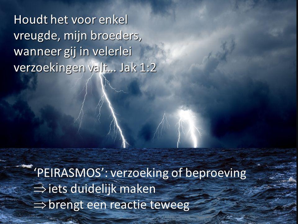 Houdt het voor enkel vreugde, mijn broeders, wanneer gij in velerlei verzoekingen valt… Jak 1:2