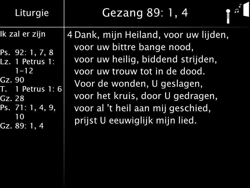 Gezang 89: 1, 4