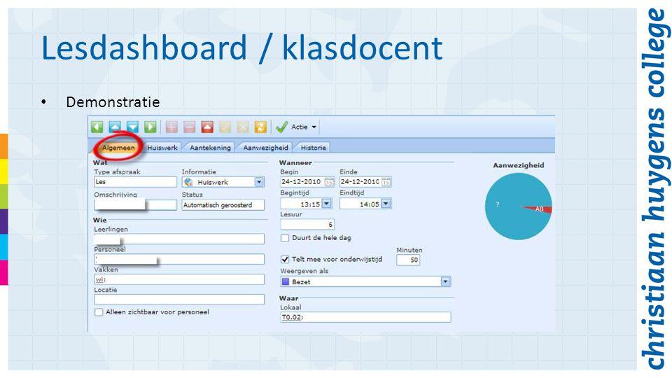 Lesdashboard / klasdocent