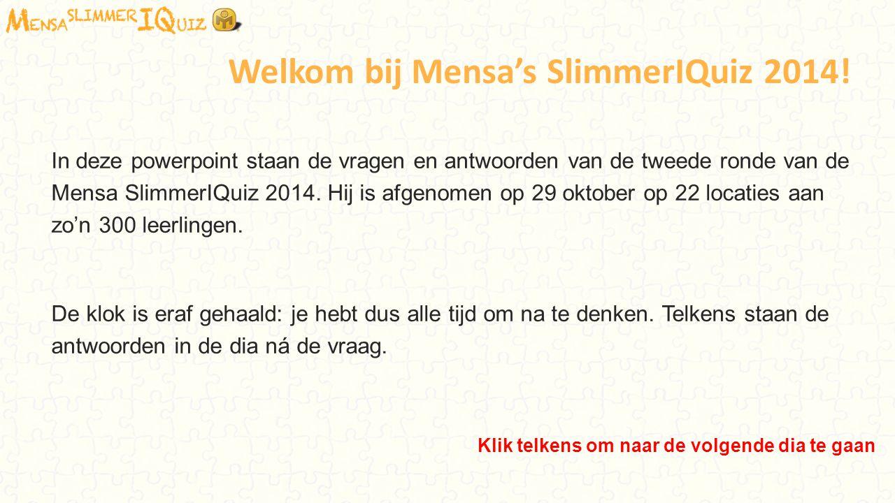 Welkom bij Mensa's SlimmerIQuiz 2014!