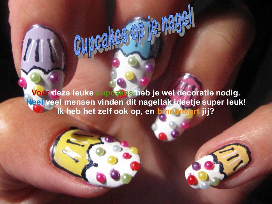Cupcakes Cupcakes op je nagel