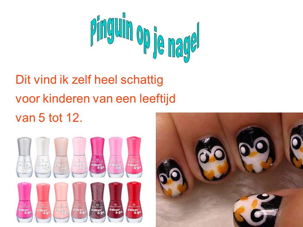 Pinguin op je nagel Dit vind ik zelf heel schattig