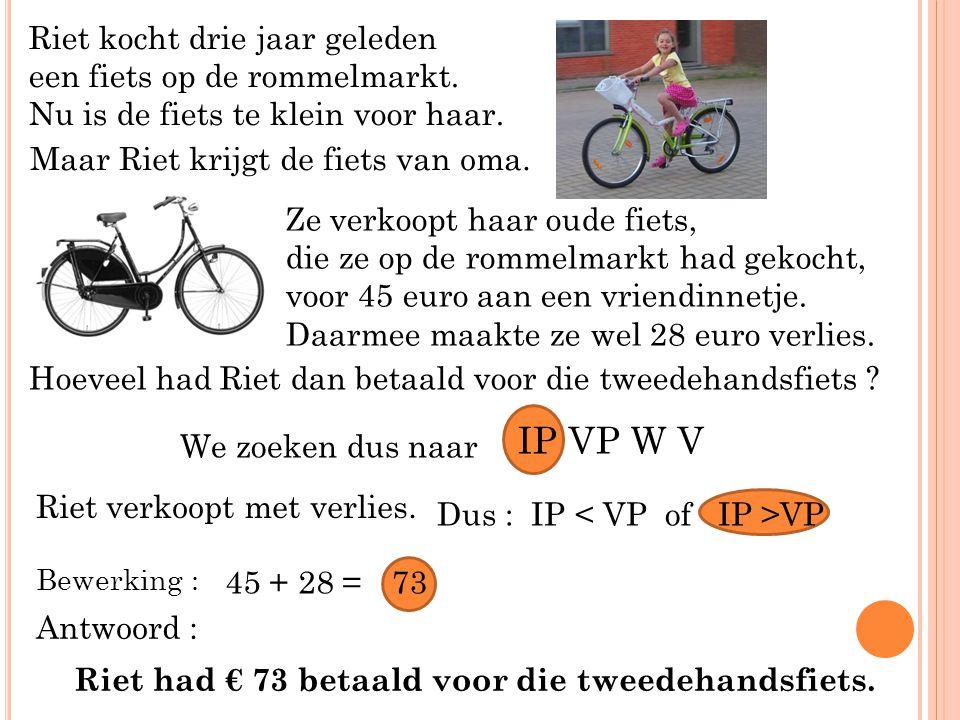 Riet kocht drie jaar geleden een fiets op de rommelmarkt.