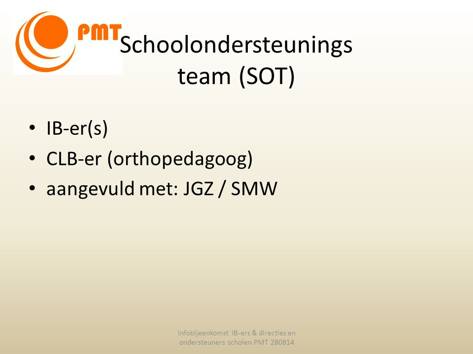 Schoolondersteunings team (SOT)