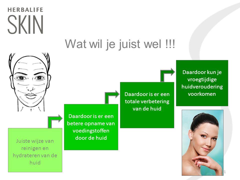 Wat wil je juist wel !!! Daardoor kun je vroegtijdige huidveroudering voorkomen. Daardoor is er een totale verbetering van de huid.