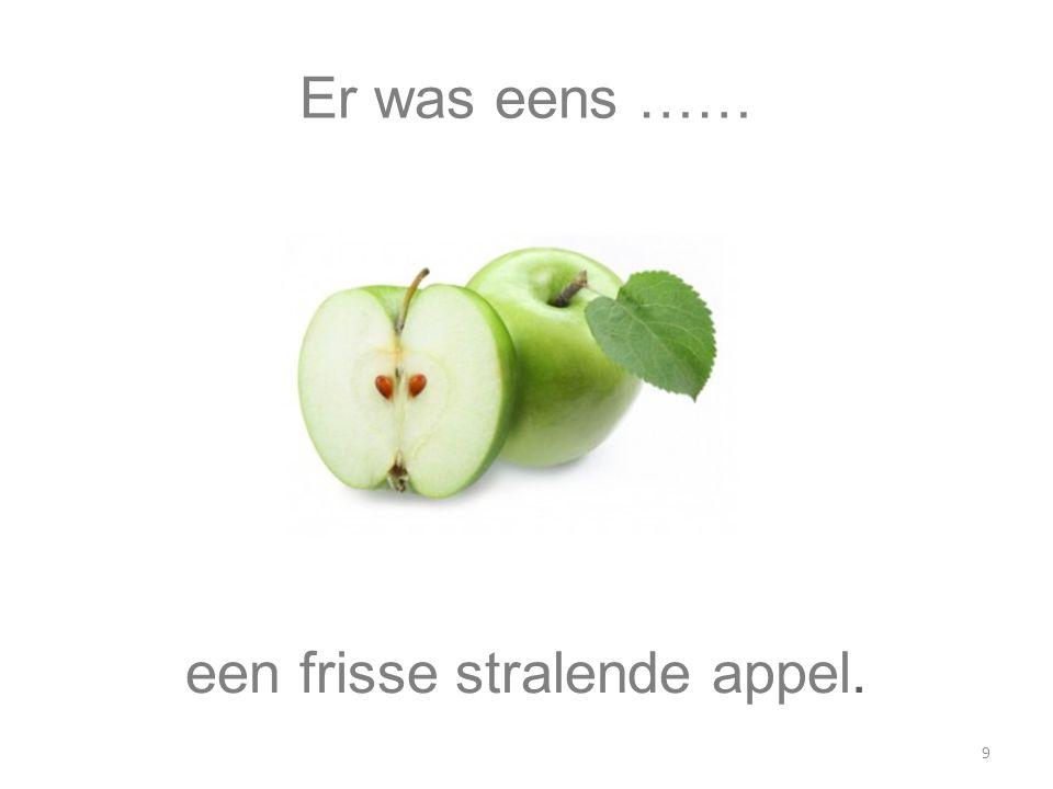 een frisse stralende appel.