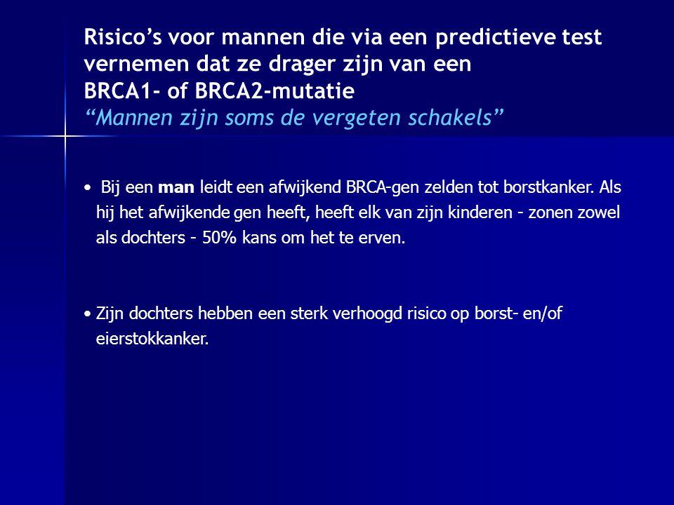 Risico's voor mannen die via een predictieve test